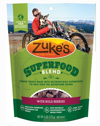 Zukes SuperFood Blend with Bold Berries Dog Treats, 6 oz.