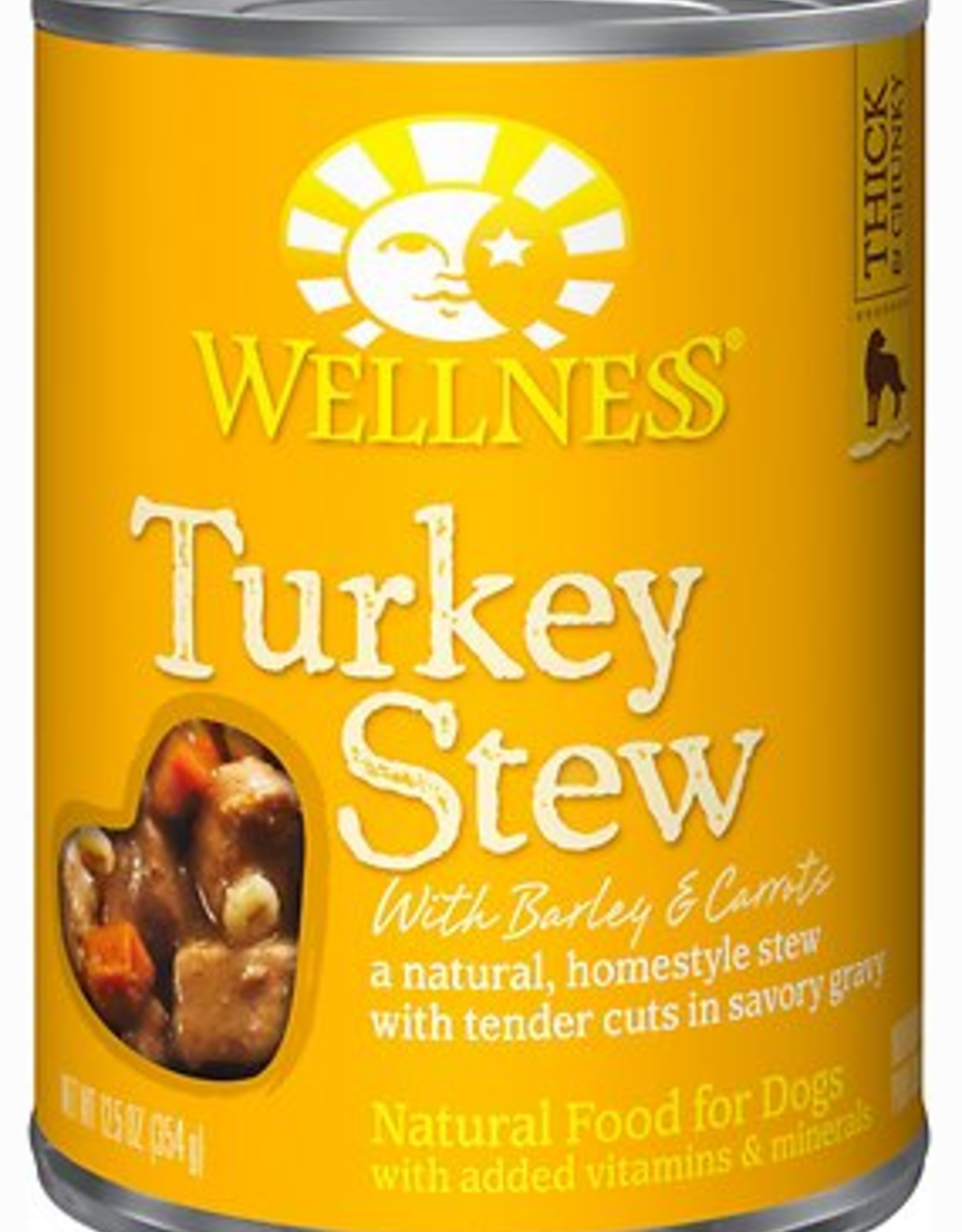 Wellness Turkey Stew with Barley & Carrots Canned Dog Food, 12.5 oz.