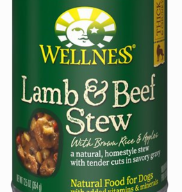 Wellness Lamb & Beef Stew with Brown Rice & Apples Canned Dog Food, 12.5 oz.