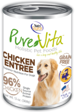 Pure Vita Grain-Free 96% Chicken Entree Canned Dog Food, 12.5 oz.