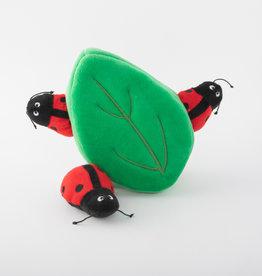 Zippy Paws Ladybug Leaf Burrow Dog Toy
