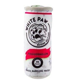 Haute Diggity Dog Waggermelon White Paw Hound Seltzer Dog Toy
