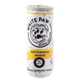 Haute Diggity Dog Muttlennial Mango White Paw Hound Seltzer Dog Toy