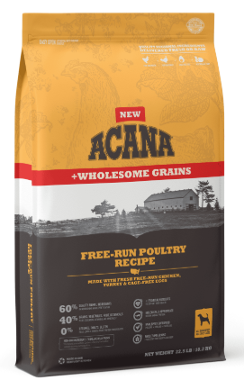 Acana Wholesome Grains Free-Run Poultry Recipe Dry Dog Food