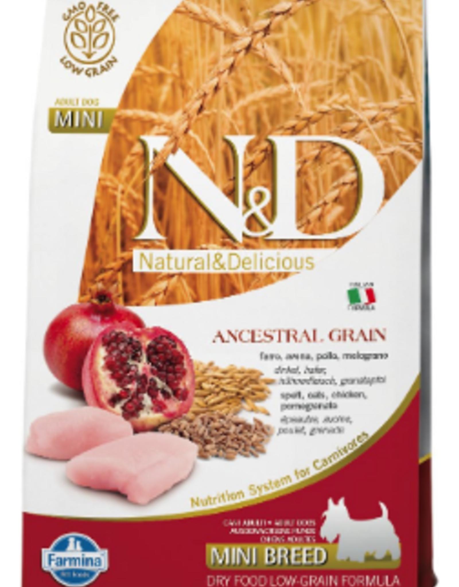 Farmina N&D Ancestral Grain Chicken & Pomegranate Mini Light Dry Dog Food
