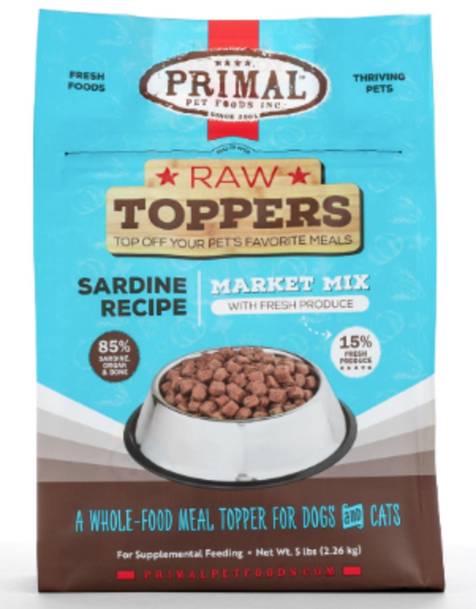 Primal Market Mix Raw Toppers Sardine, 5 oz.