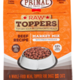 Primal Market Mix Raw Toppers Beef, 5 oz.