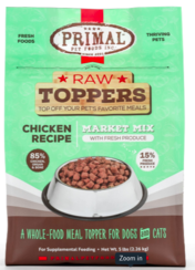 Primal Market Mix Raw Toppers Chicken, 5 oz.