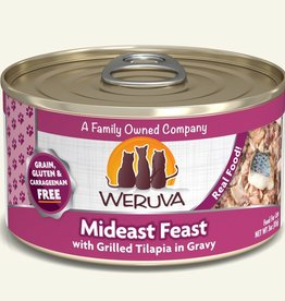 Weruva Mideast Feast with Grilled Tilapia in Gravy Grain-Free Canned Cat Food, 5.5 oz