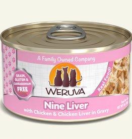 Weruva Nine Liver with Chicken & Chicken Liver in Gravy Grain-Free Canned Cat Food, 5.5 oz
