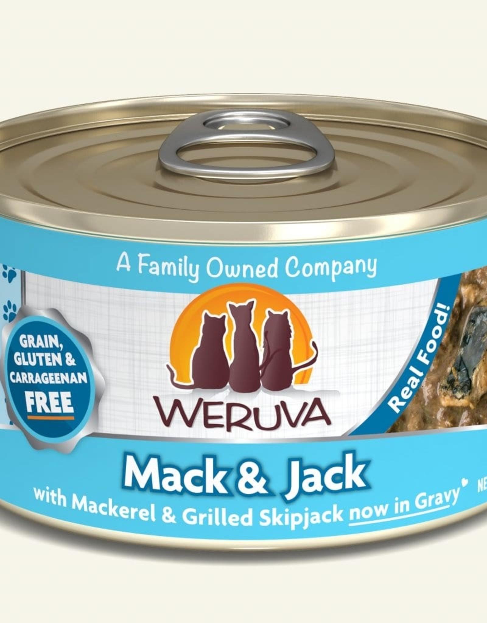 Weruva Mack and Jack with Mackerel & Grilled Skipjack Grain-Free Canned Cat Food, 5.5 oz