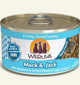 Weruva Mack and Jack with Mackerel & Grilled Skipjack Grain-Free Canned Cat Food, 5.5 oz