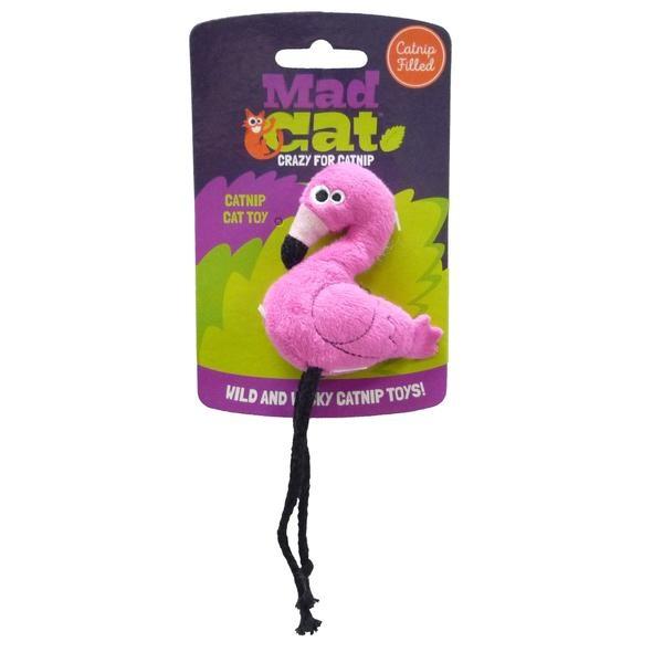 R2P Pet Mad Cat Big Flingin Flamingo Catnip Toy