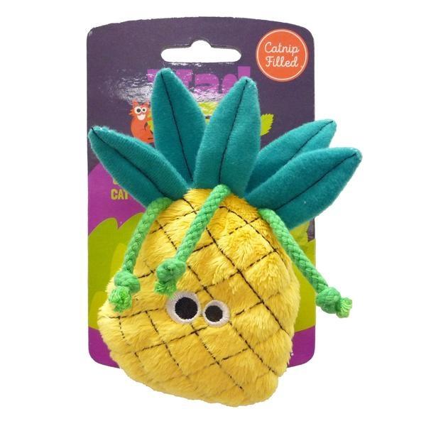 R2P Pet Mad Cat Big Perfect Pineapple Catnip Toy
