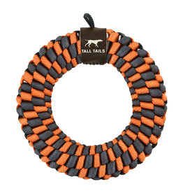 Tall Tails Orange Braided Ring Dog Toy