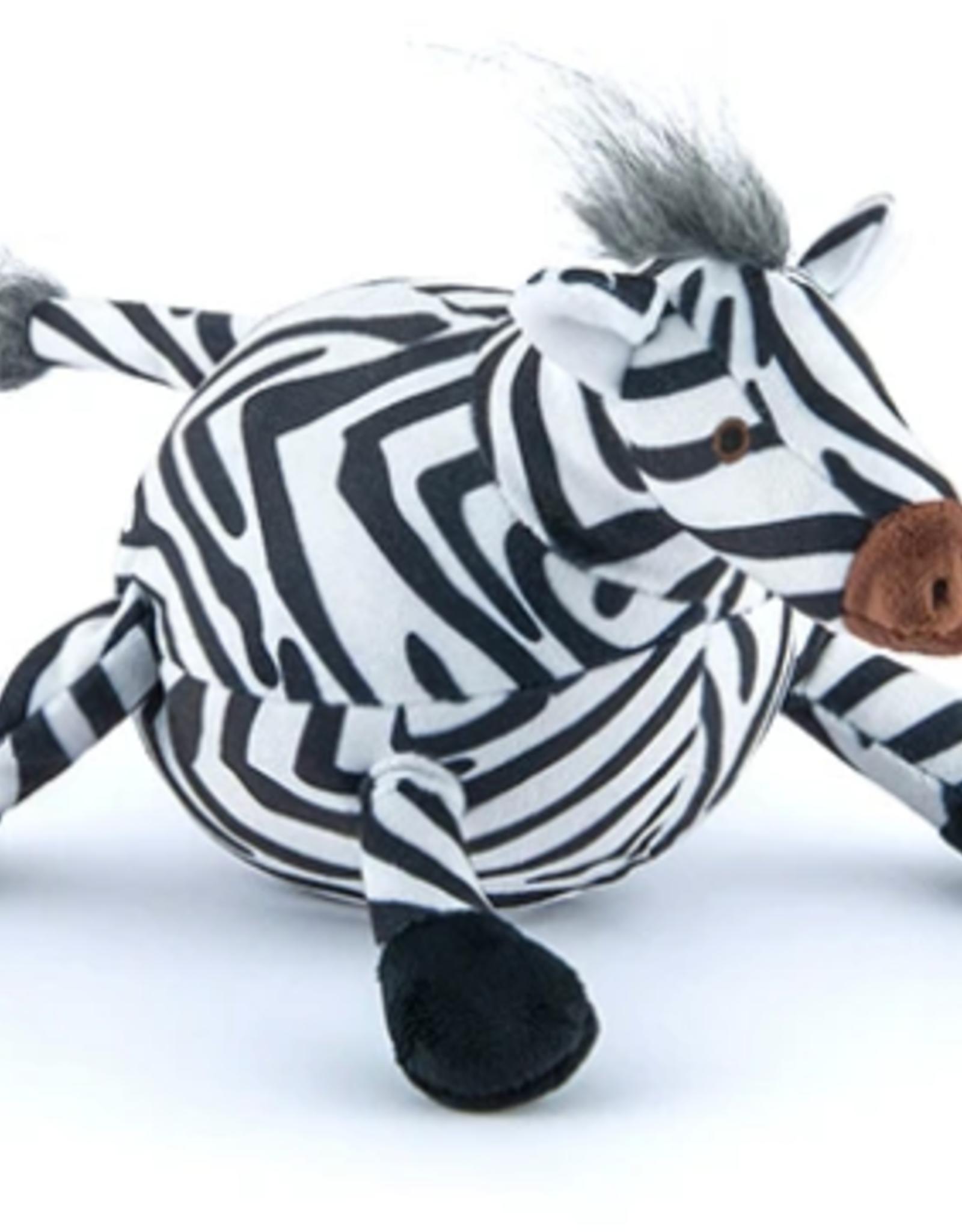 P.L.A.Y. Zara the Zebra Plush Safari Rope Dog Toy