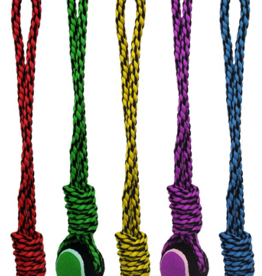 Multipet Nuts For Knots Long Rope Tug & Tennis Ball Dog Toy
