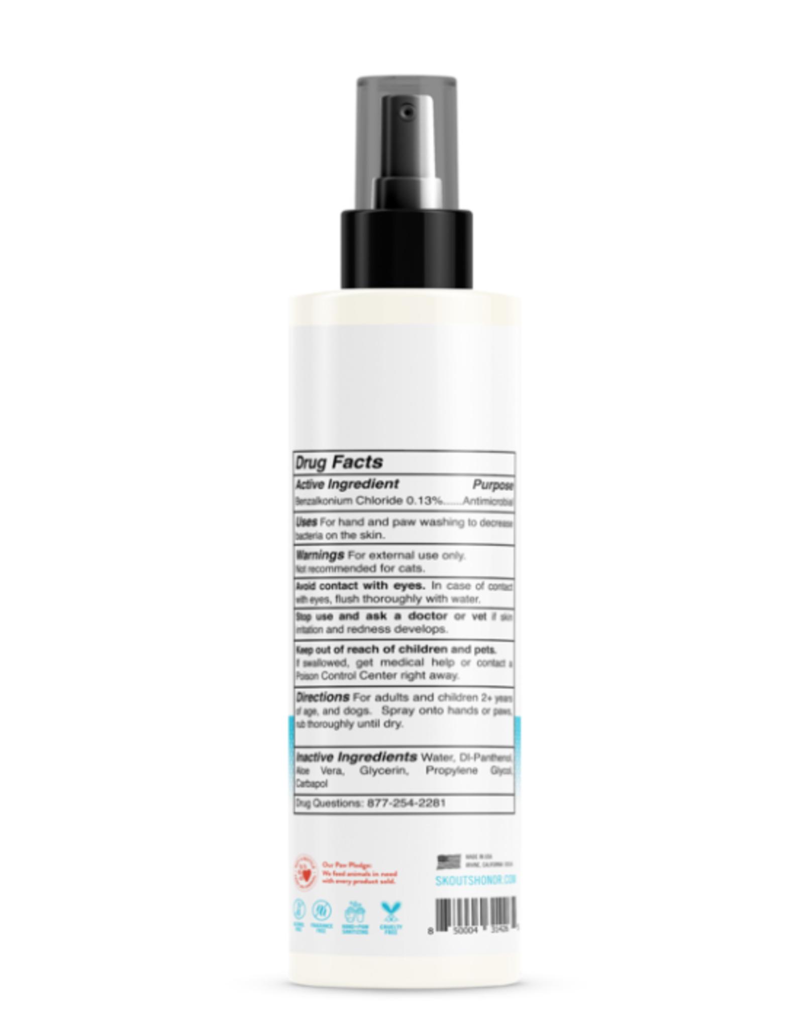 Skout's Honor Paw & Hand Sanitizer Spray, 8 oz.