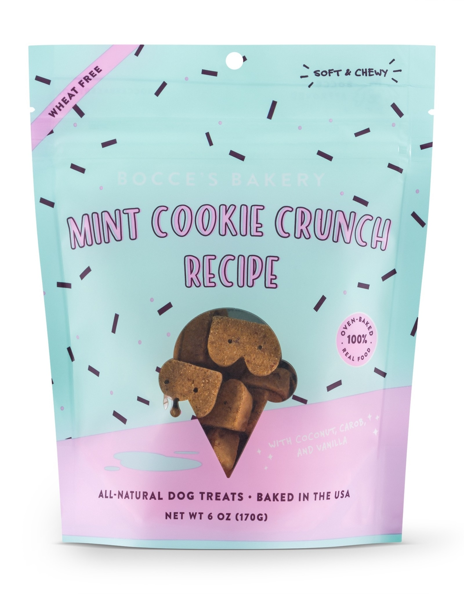 Bocce's Bakery Mint Cookie Crunch Recipe Dog Treats, 6 oz.
