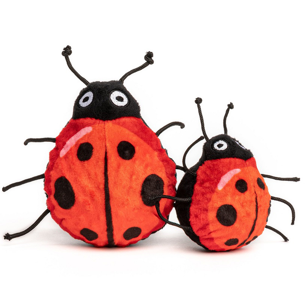 Fabdog Ladybug faball Squeaky Dog Toy