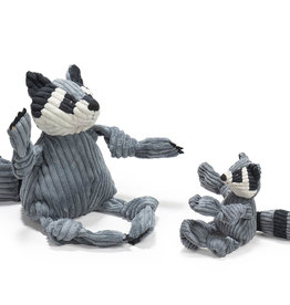 HuggleHounds Raccoon Knottie Dog Toy