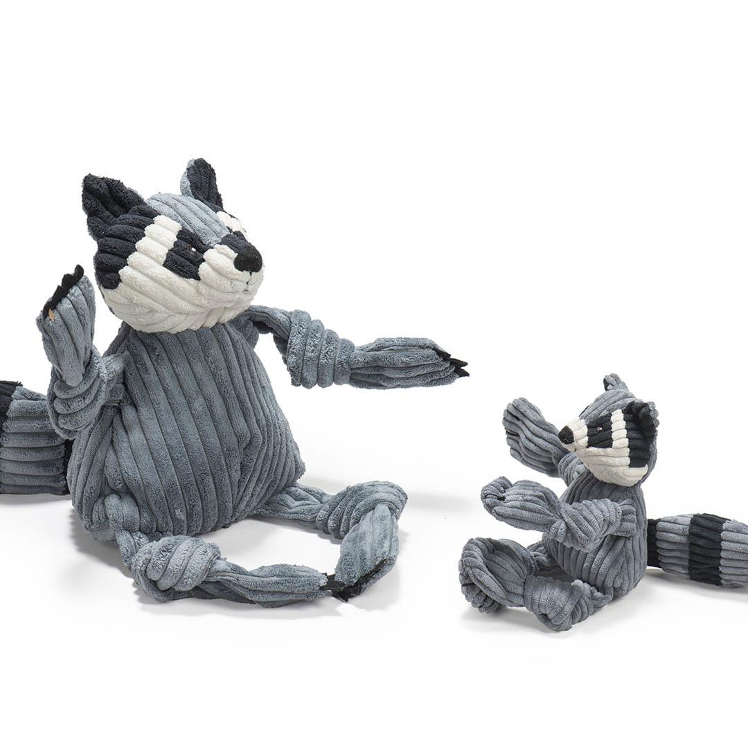 HuggleHounds Raccoon Knottie Dog Toy