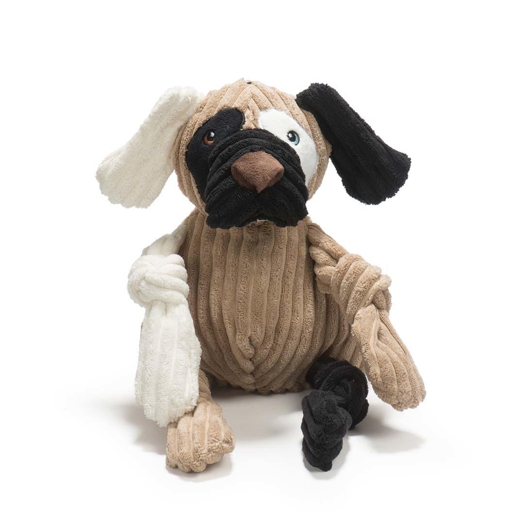 HuggleHounds HuggleMutt Patches Dog Toy