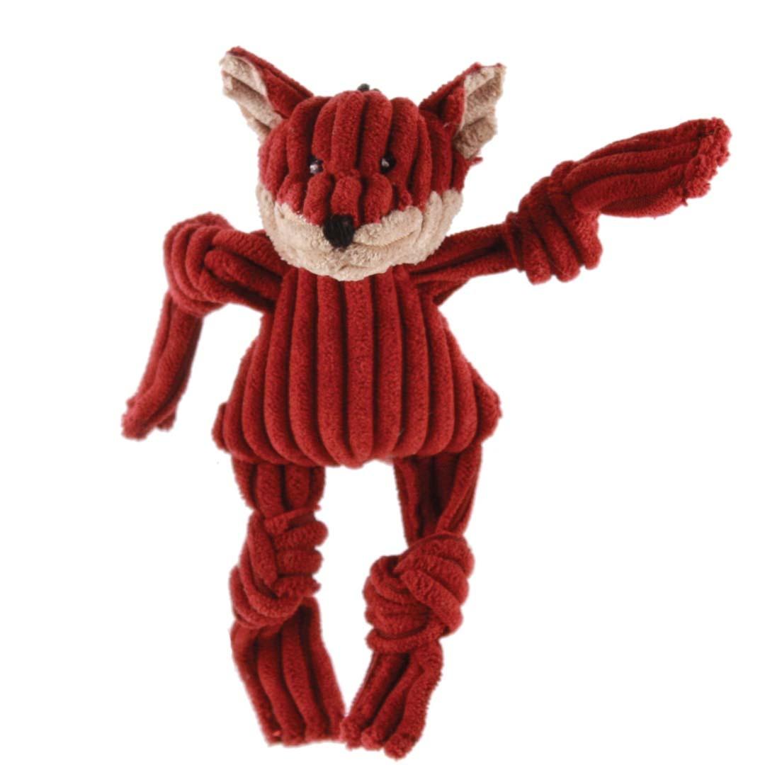 HuggleHounds Fox Wee Size Plush Dog Toy