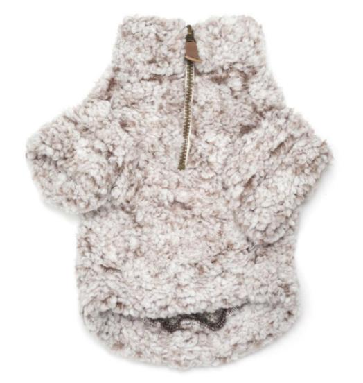 The Worthy Dog Ivory Wubby Pullover Dog Fleece