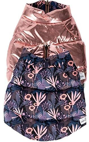 Lucy & Co. Enchanted Forest Reversible Puffer Dog Vest