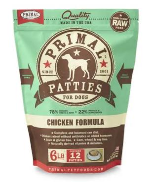 Primal Pronto Raw Frozen Canine Chicken Formula, 4 lb.