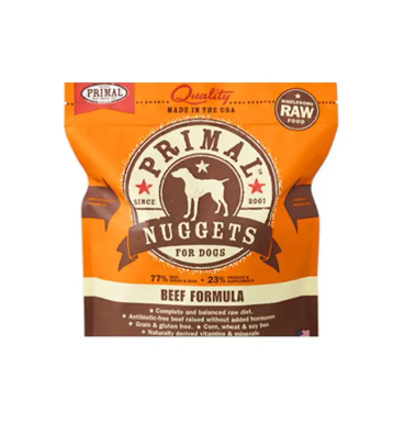 Primal Raw Frozen Canine Beef Formula, 3 lb. nuggets