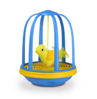 Cosmic/Our Pets Bird in Cage Electronic Cat Toy