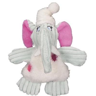HuggleHounds Mini Elephant Party Animal Plush Dog Toy