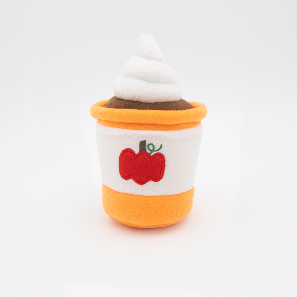 Zippy Paws Pumpkin Spice Latte Plush Dog Toy