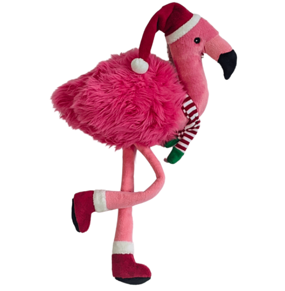 Fluff & Tuff Kitt the Holiday Flamingo