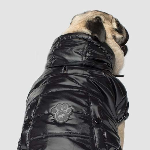 Canada Pooch Black Shiny Puffer Dog Vest
