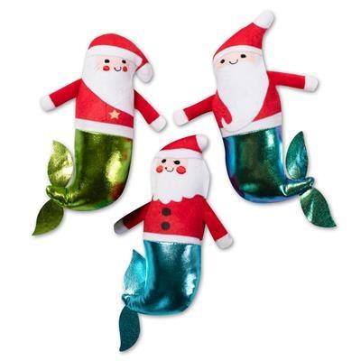 Fringe Studio Mini Mersantas Plush Dog Toys, 3 pack