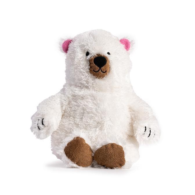 Fabdog Fluffy Polar Bear Dog Toy