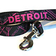 The Detroit Mercantile Co Black & Hot Pink 6 ft Dog Leash