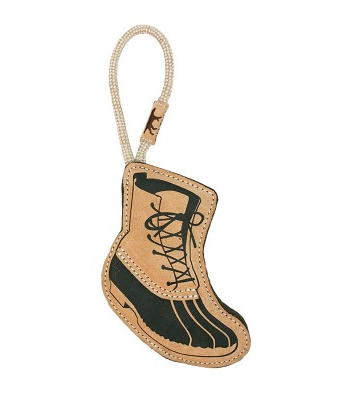 Tall Tails Leather & Wool Hiking Boot Toy, 16 in