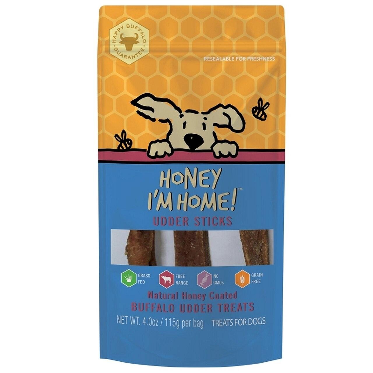 Honey I'm Home Honey Coated Udder Sticks Dog Treat, 4 oz.