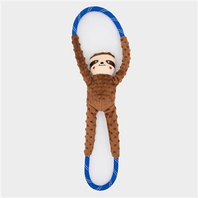 Zippy Paws Sloth RopeTugz Dog Toy