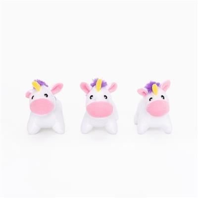 Zippy Paws Unicorn Miniz 3-Pack Plush Dog Toy