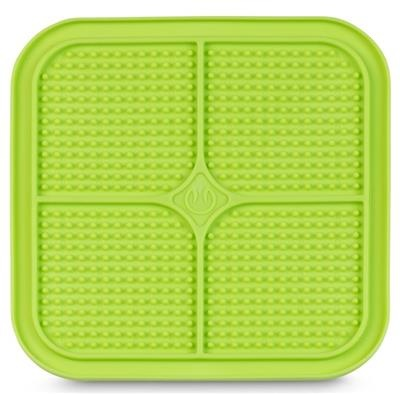 Pet Zone Boredom Busters Relax Green Dot Slow Feeder Licking Mat
