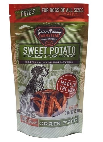 Gaines Family Farmstead Natural Sweet Potato Fries for Dogs, 8 oz