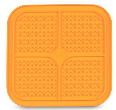 Pet Zone Boredom Busters Indulge Orange Crosses Slow Feeder Licking Mat
