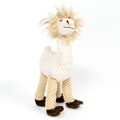 Fabdog Floppy Squeaky Plush Llama Dog Toy