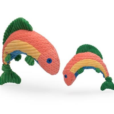 HuggleHounds Rainbow Trout Knottie Dog Toy
