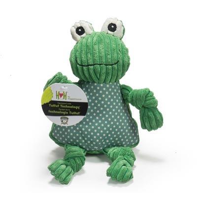 HuggleHounds Frog Knottie Dog Toy
